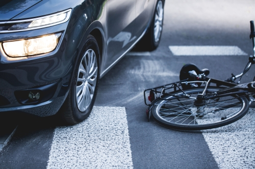 car on bicycle accident