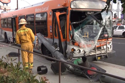 LA Metro bus accident