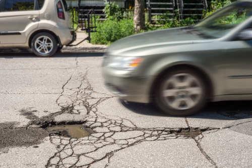 defectos en las carreteras