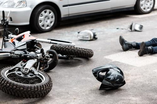lesión catastrófica de motocicleta