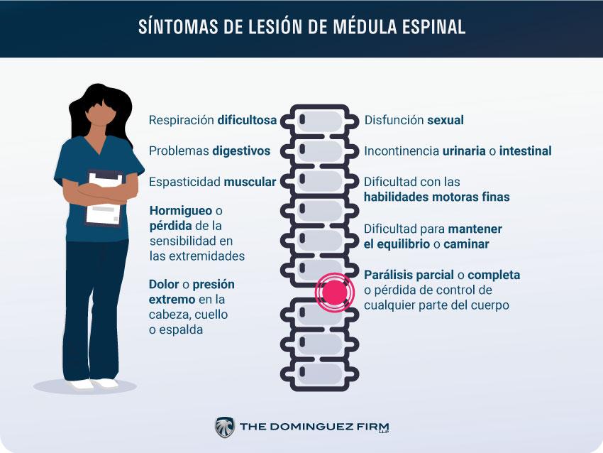 Sintomas de una Lesion de la Medula Espinal