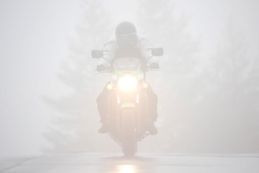 Bad Weather Motorcycle Accidents