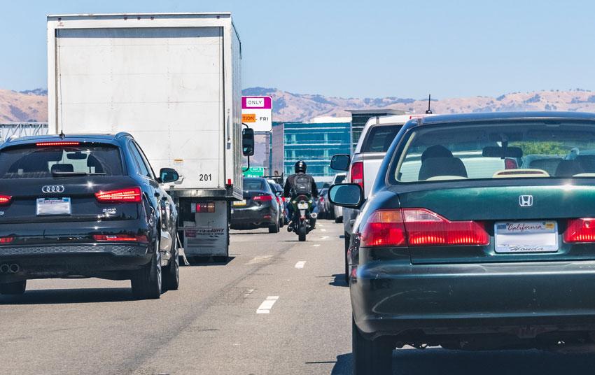 Lane Splitting in California