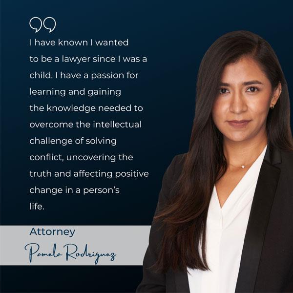 Pamela Rodriguez passing the CA State Bar